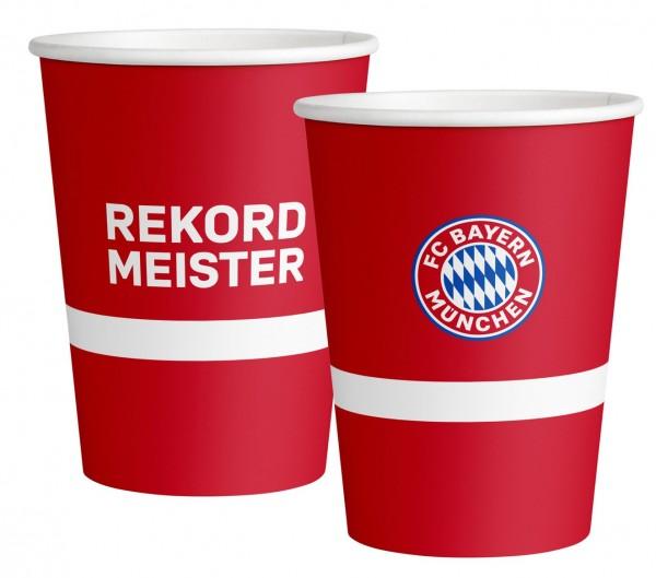 6 FC Bayern München Pappbecher 500ml
