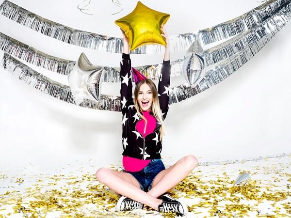 Globo de estrella Shiny Star gold 48cm