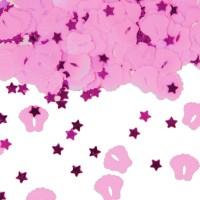 Rosa Babyfüßchen Konfetti