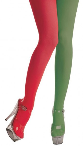 Red and Green Tights for Women