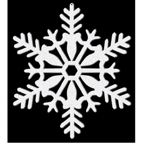 4 Glitzernde Schneeflocken Hänger 10cm