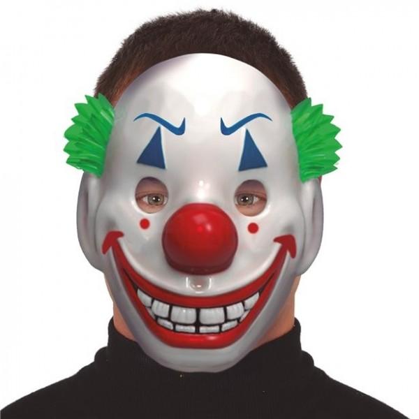 Grijnzend clownsmasker van kunststof