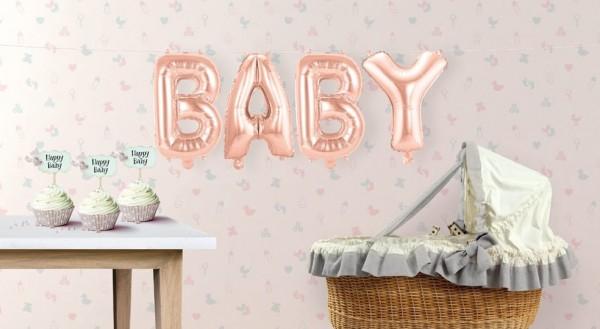 Baby Folienballon-Set rosegold 1