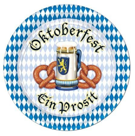 Papirplade Oktoberfest A Prosit 18cm