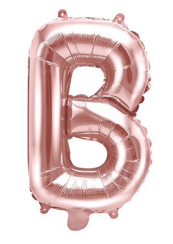 Foil balloon B rose gold 35cm