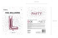 Vorschau: Folienballon L roségold 35cm