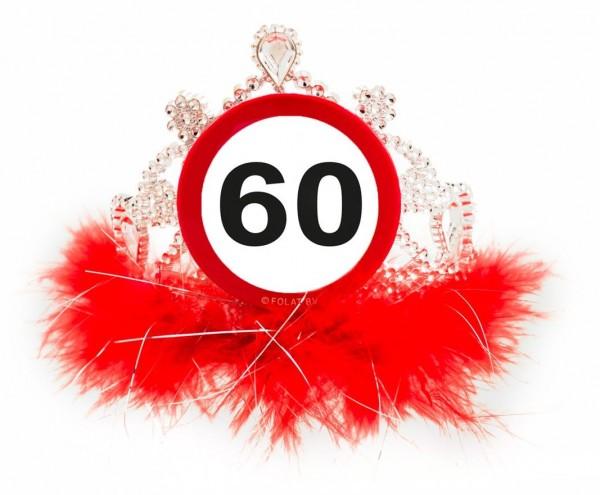 Panneau routier 60e anniversaire couronne