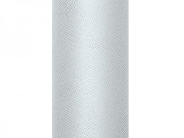 Tüll Stoff Luna grau 9m x 15cm