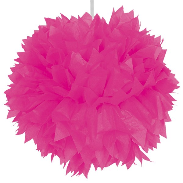 Pompom hanging decoration magenta 30cm