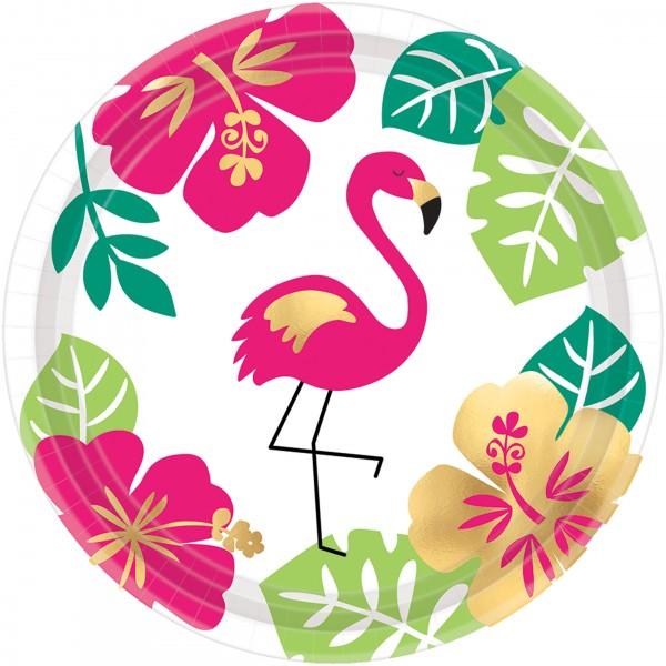 8 platos de papel Aloha Island 18cm