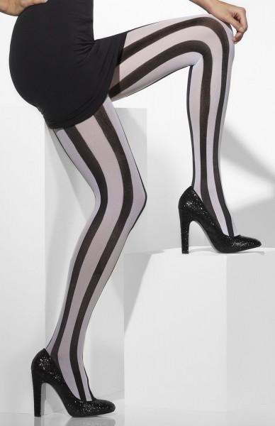 Pantimedias de mujer en blanco y negro Megan
