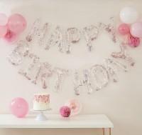 Happy Birthday Konfettiballons Girlande 4m