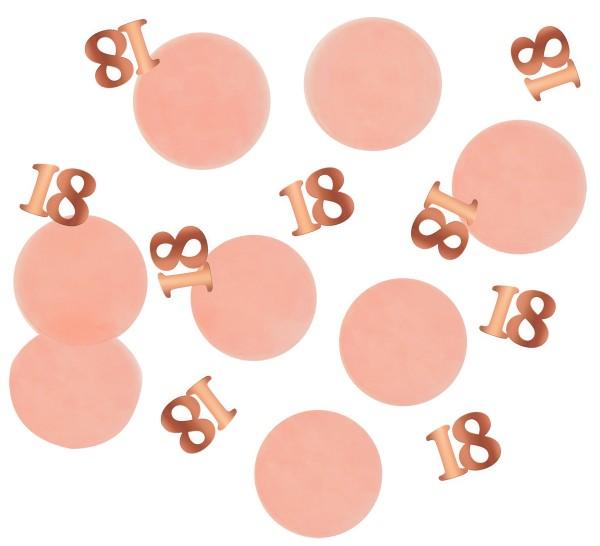 18ème anniversaire confetti 25g blush élégant or rose