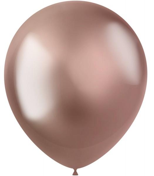 10 Shiny Star Luftballons roségold 33cm
