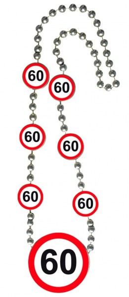 Traffic sign 60 necklace