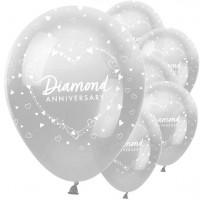6 globos de boda de diamantes 30cm
