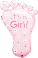 Babyfuß Folienballon Girl