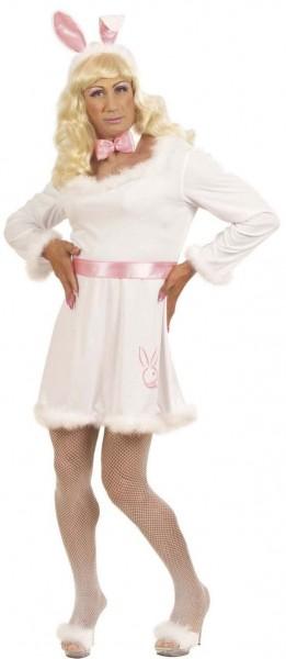 Weißes Drag Queen Bunny Kostüm