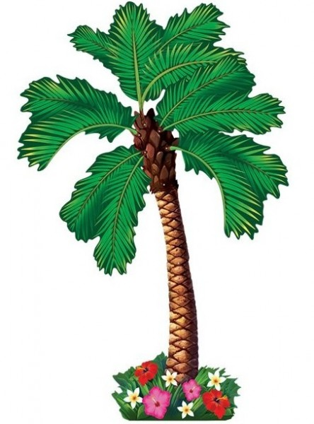 Tropisches Palmen Wandbild 1,82m