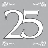 20 Servietten Silberhochzeit 25 Jahre