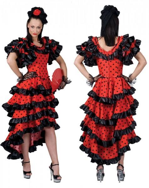 Flamenco Tänzerin Damenkostüm