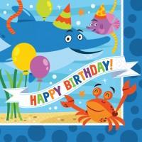 16 lustige Meeresparty Geburtstags-Servietten