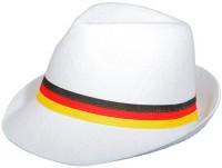 Weißer Partyhut mit Deutschlandband