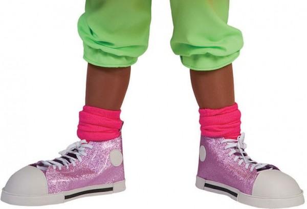 Pinke XXL Clowns Sneaker Glitzer