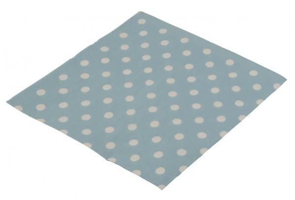 Punkte Spaß Blaue Papier Servietten 16er Pack 33x33cm