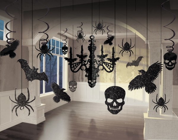 Set decorazione Halloween 17 pezzi