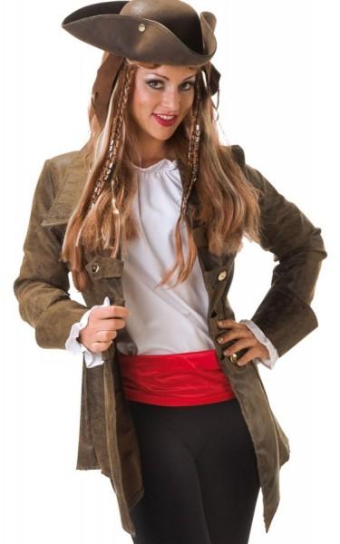 Lässige Braune Piraten Damen Jacke