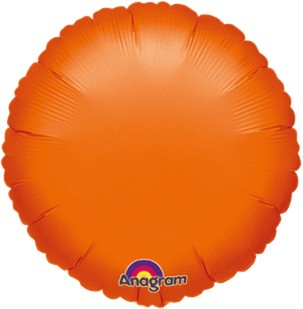 Round foil balloon orange 45cm