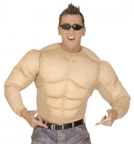 Gepolstertes Muskel Shirt für Herren