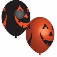 6 Halloween Latexballos Grinsekürbis