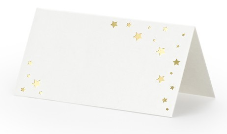 10 Gold Star Place Cards