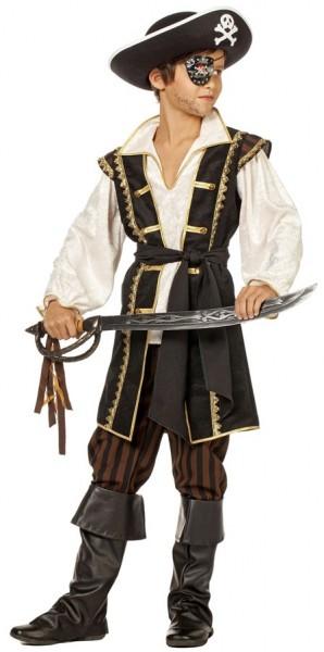 Déguisement pirate marron-noir enfant