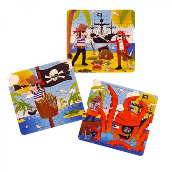 1 Piraten Puzzle 13 x 12cm