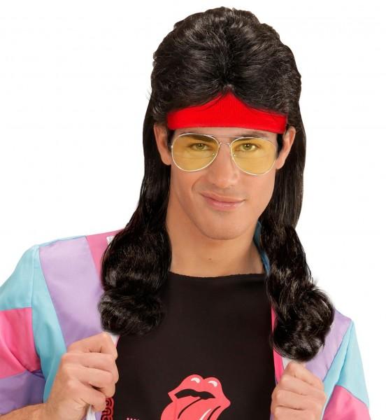 Parrucca nera anni '80