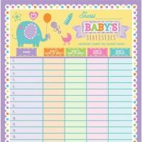 Babyparty Spiel Erratet die Babyfakten
