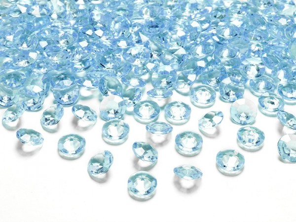 100 scattered diamonds azure blue 1.2cm