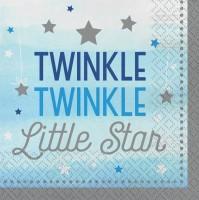 16 Twinkle Baby Boy Servietten 33cm