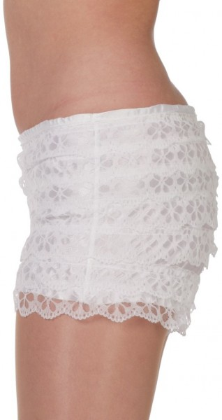 White lace panties with ruffles