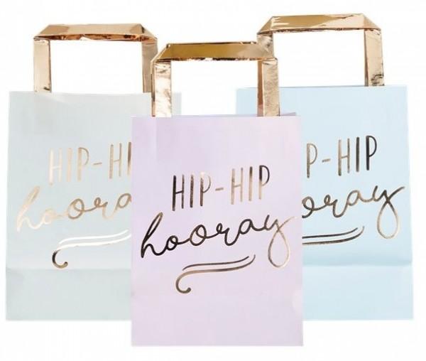 5 bolsas de regalo Hip Hip Hooray pastel 26cm