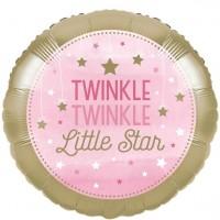 Globo foil Twinkle Pink Star 43cm