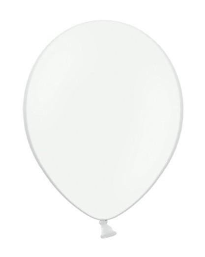 10 Pastell-Luftballons in Weiß 27cm 1