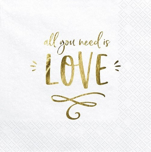 20 All you need is love napkins 33cm
