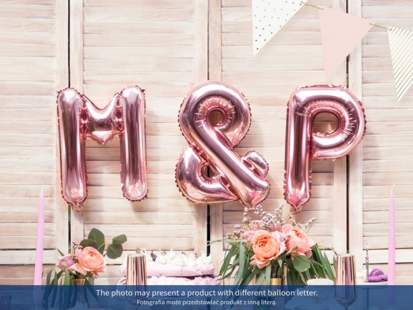 Foil balloon K rose gold 35cm
