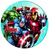 8 Avengers Heroes Pappteller 23cm