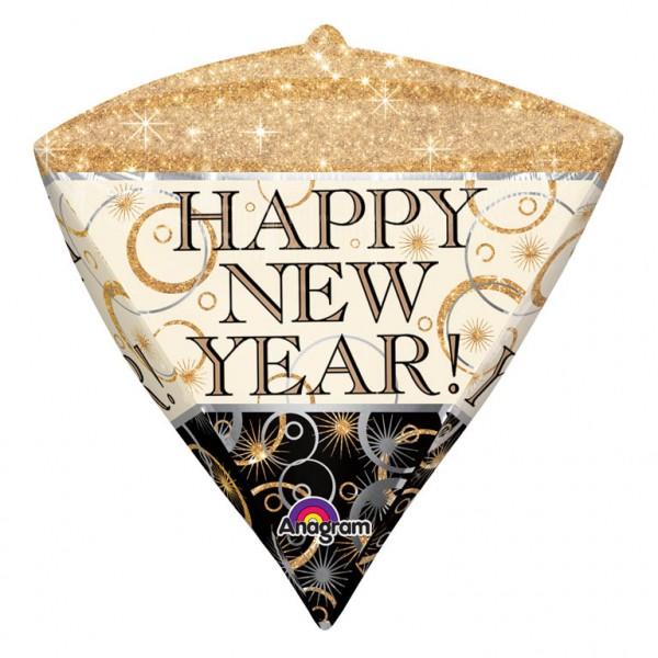 Ballon diamant Happy New Year 38cm