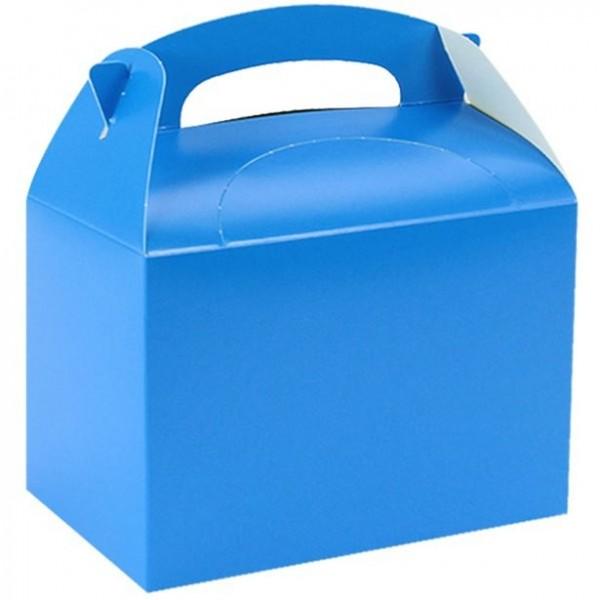 Coffret cadeau rectangulaire bleu clair 15cm